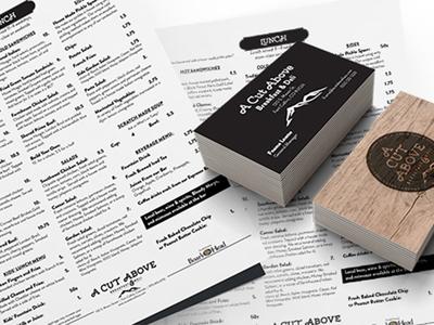 Menu & Business Card Design business card design print design graphic design layout menu id identity restaurant branding