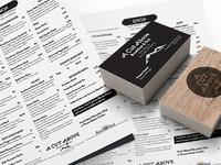 Menu & Business Card Design