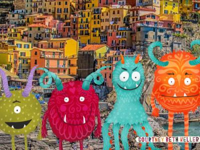 Monster Travelers freelance designer kids art art direction design illustration monsters kids design