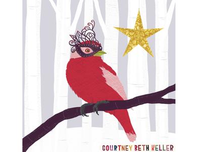 New Years Finch illustration 970creative onelittleprintshop courtneybethkeller
