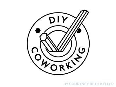 Logo Design colorado fort collins coworking vector illustration typography design logo