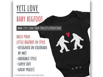 Instagram Ad baby courtney beth keller 970 creative onelittleprintshop bigfoot yeti marketing advertising social media instagram ad