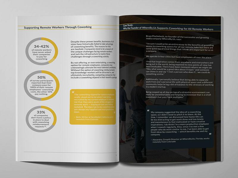 White paper design - inside charts infographic corporate white paper branding layout graphic design design