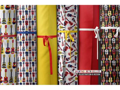 Ukulele Pattern Collection onelittleprintshop licensing artist print design graphic design branding surface pattern design illustration design pattern pattern design