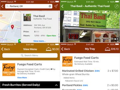 cart-blánche - Food Cart Search App