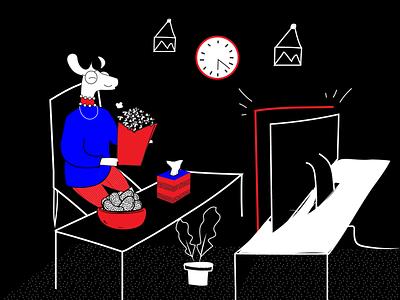Chernobyl Show design illustrationdaily black and white mascot logo deer illstration digital store deer illustration mascot character digital illustration digital art mascot illustration halx store halx deer art