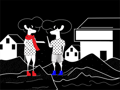 Conversations And Insights branding design ecommerce art collective illustrationdaily digital store deer illustration black and white mascot character digital illustration digital art mascot illustration deer art halx store halx
