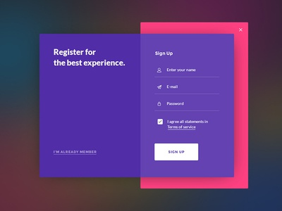Sign Up form for Daily UI #001