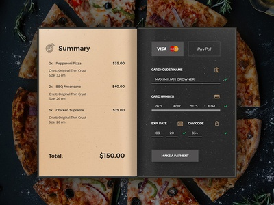Credit Card Checkout for Daily UI #002