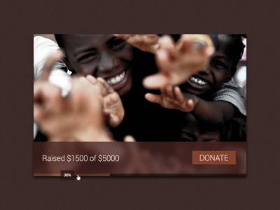 Charity Donation Widget