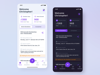 Food Donation App meals reserve reservation booking nonprofit product design interaction donor volunteer charity app food donation design ios ux ui