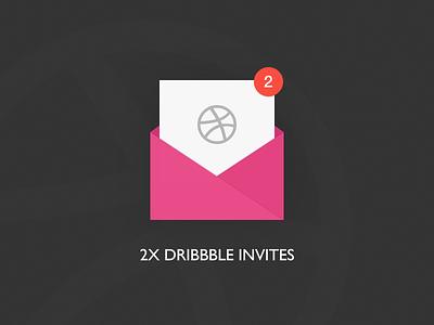 2 Dribbble Invites!! dribbble player invitation draft invite dribbble-invite