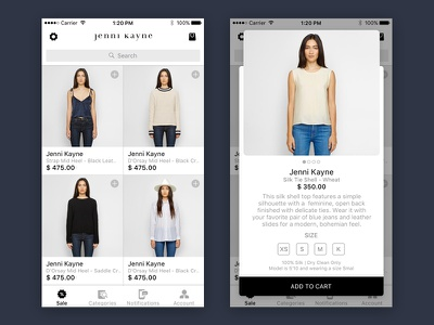 Another eCommerce App Concept product listing ios ecommerce popup white shopping
