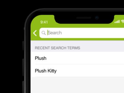 Gift Shop App UI - Search Screen