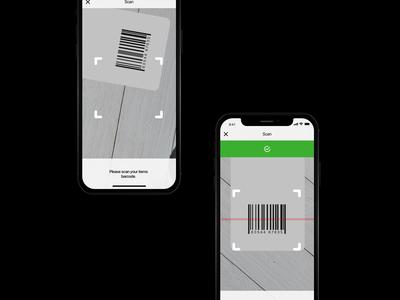 Gift Shop App UI - Barcode Scan