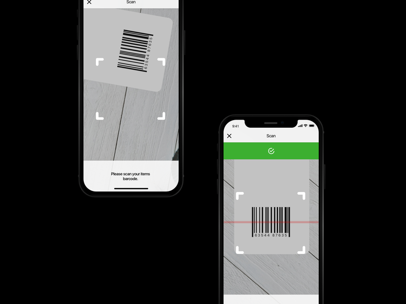 Gift Shop App UI - Barcode Scan by Just Zaow! on Dribbble