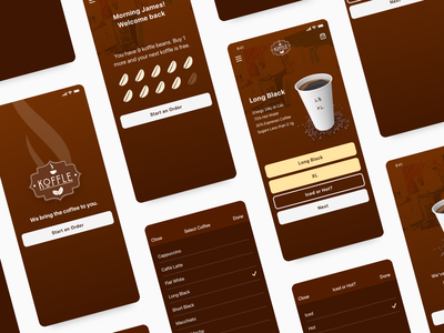 Coffee Delivery App UI + Branding