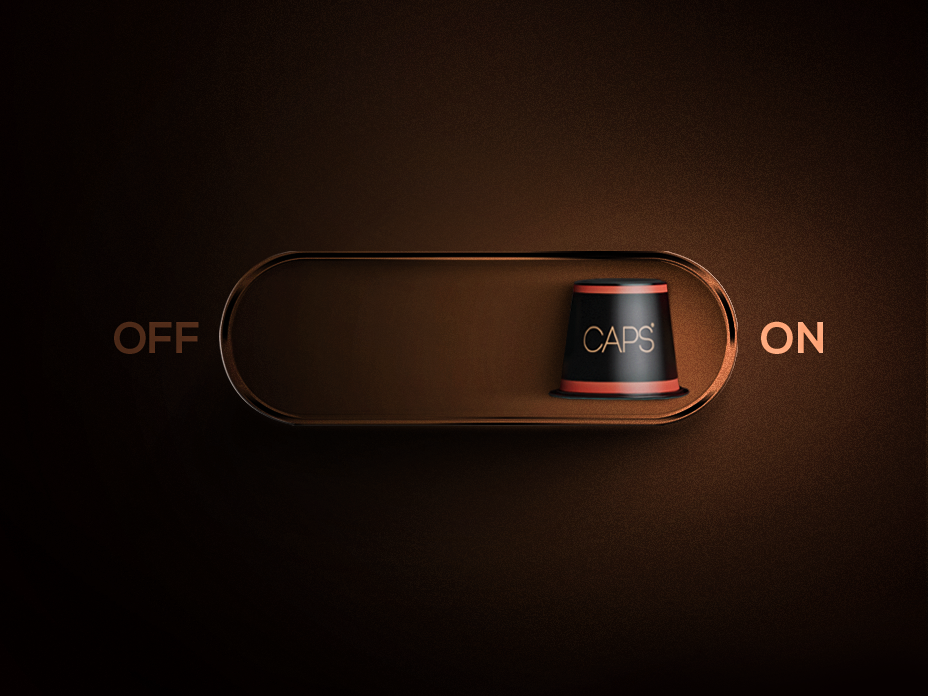 On_Off color clean brown light switch onoff switch capsule coffee