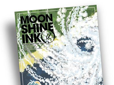 Cover Illustration and Design for Moonshine Ink 2020 figurative editorial blues illustration land fall storm hurricane coronavirus custom brushes corona covid19 cover design