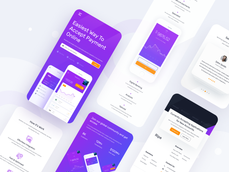 Responsive Design for Finance Website finance application finance website dribbble best shot payment landing page app landingpage homepage dashboard design ux website ui