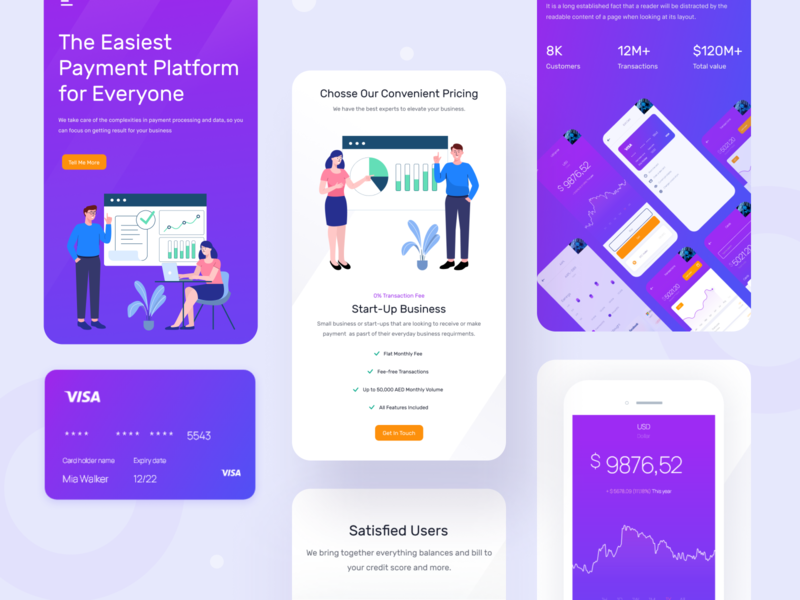 Responsive Design for Finance Solution finance finance solution illustration dribbble best shot ui homepage landingpage dashboard design ux app website
