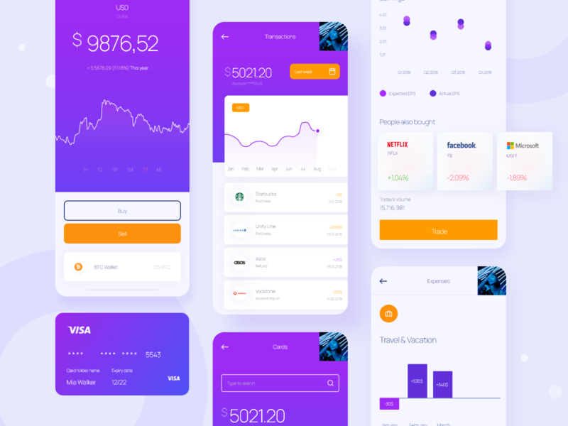 Bank / Finance App design bank card banking branding mobile dribbble best shot payment dashboard design ux ui app finance bank app bank