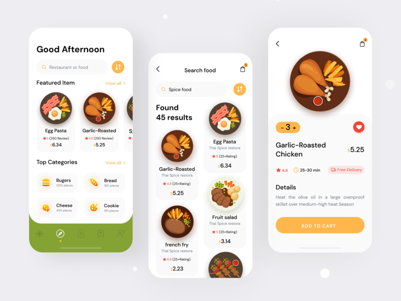 Food Delivery app- Discover Food design app ux food delivery application foodcort app foodie trends design dribbble shot 2020 user experince design user interface design food app design food and drink restaurant app food truck food app ui food delivery app food app