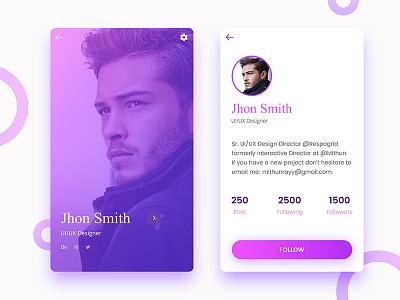 Profile screen design experiment iphone apps profile ui ios ios8 ux