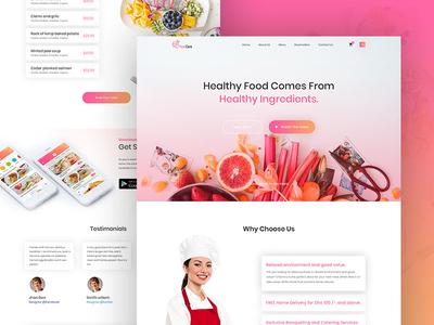 Foodcare Restaurant Landing page website web ux ui landing home design restaurant singlepage restaurant landing page foodcare