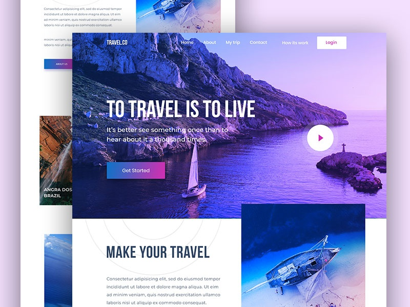 Travel Agency Website >> Travel Agency Homepage Exploration Search By Muzli