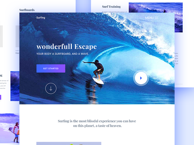 Surfing Landing Page Experiment contents of table scroll magazine home homepage surfing stance page landing design