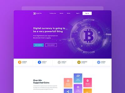 Cryptocurrency branding & website design concept webdesign ux ui digitalcurrency landingpage bitcoin cryptocurrency
