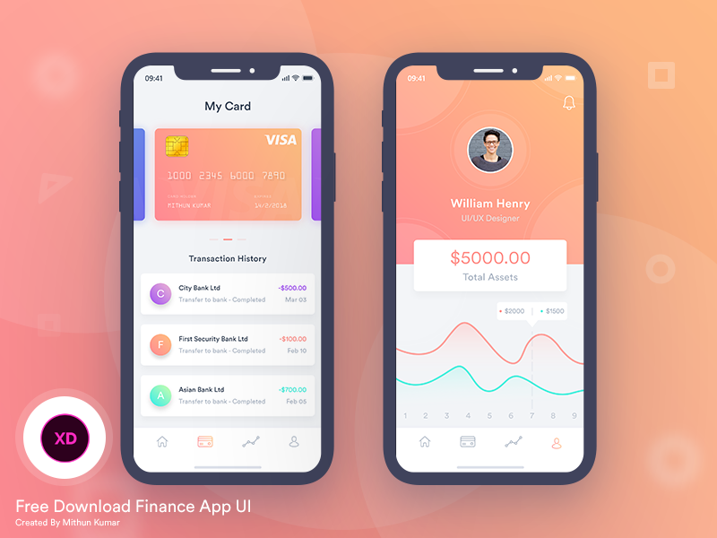 Mobile App Character Design : Free finance mobile app ui by mithun ray⚡️ dribbble