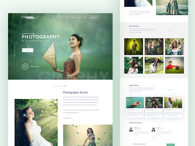 Photography website Home page responsive portfolio photography theme photographer photo personal blog parallax one page gallery fullscreen creative
