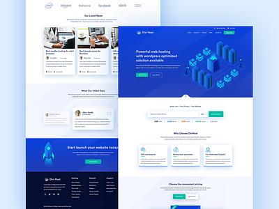Web Hosting Website Homepage Design design elegant hosting web host divide landingpage website builder ux ui homepage webhosting
