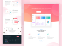 SAAS Software Landing Page Design