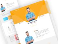 Resume & Personal Portfolio Landing page