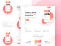 Event App Landing Page Design