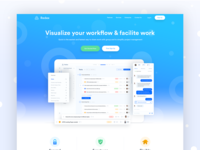 Project Management Landing Page Design
