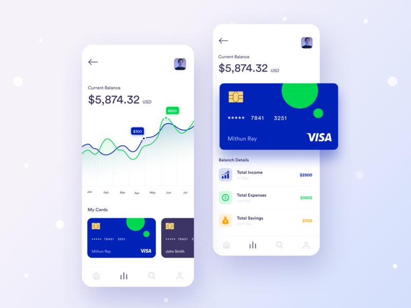 Wallet app UI Experiment visual experiment ux design ui design trend design dribbble best shot finance app ios app expenses dashboard bank card bank app application app