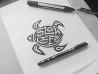 Slow life // T-shit design
