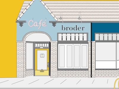 Broder Cafe food illustration brunch food swedish oregon portland
