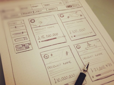 New Sketch ui wireframe sketching planning