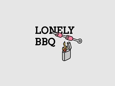 Lonelybbq vectorart vector typographyart typography illustrator illustration iconart icon doodles artwork art