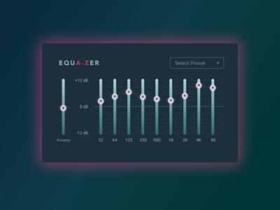 Sound quality settings setting ux ui dailyui