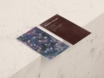 Namecard branding design graphic namecard