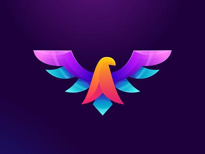 colorful eagle logo design vector illustration e-sport sport design ilustrator coreldraw forsale good nice logo colorful eagle eagle logo