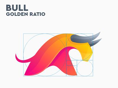 BULL golden ratio sport vector branding ui ilustrator coreldraw good logo nice logo bull bull logo bull