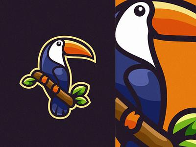 toucan sportlogo vector e-sport sport design ilustrator coreldraw forsale good nice logo toucan