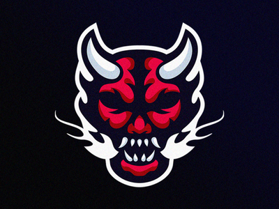 Demon logo design e-sport design illustration devil demon ilustrator coreldraw forsale good nice logo